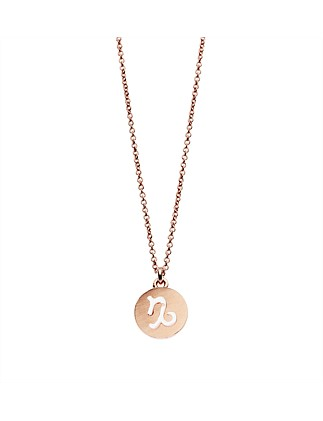Pisces Necklace In Rose Gold Plated Brass