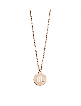 Scorpio Necklace In Rose Gold Plated Brass