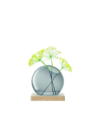 Axis Vase & Ash Base 22cm Grey