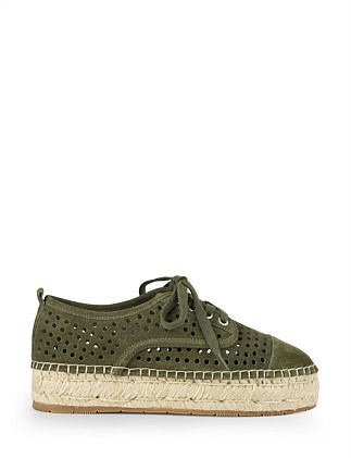 Adyson Lace Up Perforated Espadrille