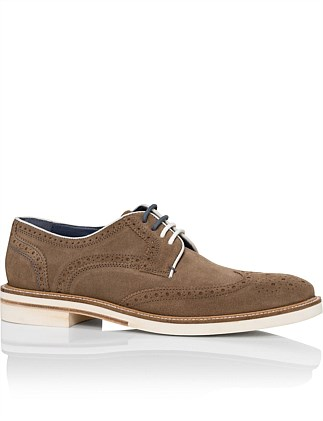 Archer2 Suede derby w/ brogue wingtip details and micro sole