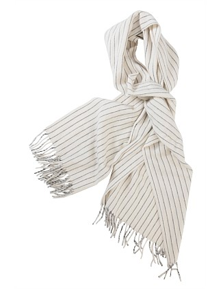 LARGE SCARF WITH FINE STRIPE