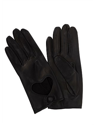 LEATHER GLOVE WITH HEART CUTOUT