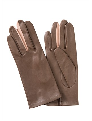 LEATHER GLOVE WITH CONTRAST FINGER