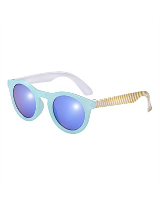 Kid Candy - Round Turq Sunglasses