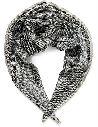PLEATED FRESCO FRAME SCARF