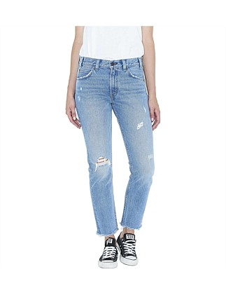 505c Cropped Jean With Fray Hem