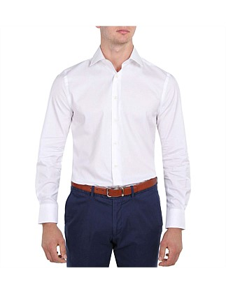 Self Stripe Slim Fit Shirt