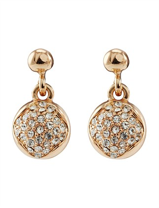 PAVE BALL DROP EARINGS