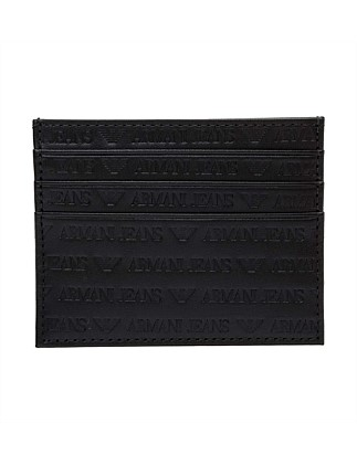 logo printed leather cc