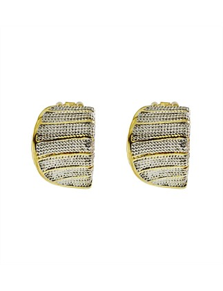 Curbed Clip Earring