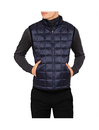 QUILTED KNIT BACK GILET
