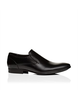 Leather Slip On Dress Loafer W/ Rubber Sole