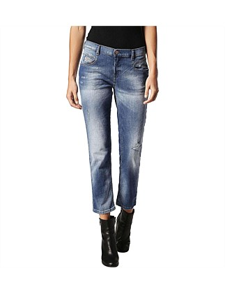 Belthy Mid Rise Slim Ankle 5 Pocket Jean