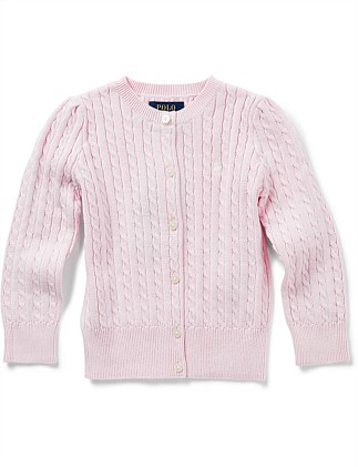 Cable-Knit Cotton Cardigan (2-7 Years)