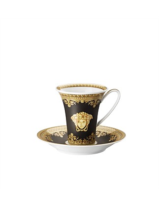 Baroque Nero Cup & Saucer Tall