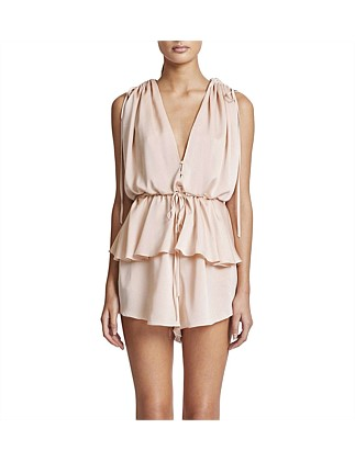 Ruched Peplum Playsuit