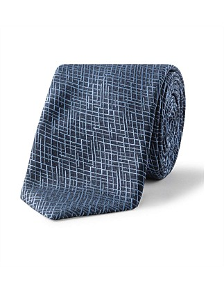 6CM GRAPH DIAMOND JAQ SILK TIE