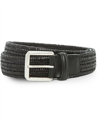 LEATHER TEXTURED PLAIT BELT