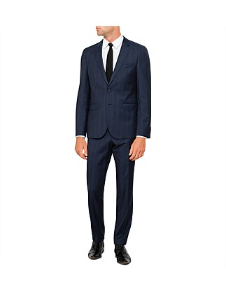 2B SB SV FL FR WOOL CHECK PEAK SUIT