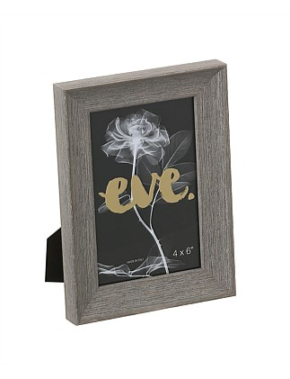"Riviera Photo Frame 4x6""/10x15cm Grey"