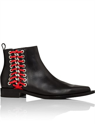 Bootie Red Eyelet
