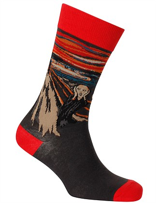 THE SCREAM ART SOCK