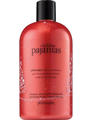 HOLIDAY PAJAMAS SHOWER GEL & BUBBLE BATH