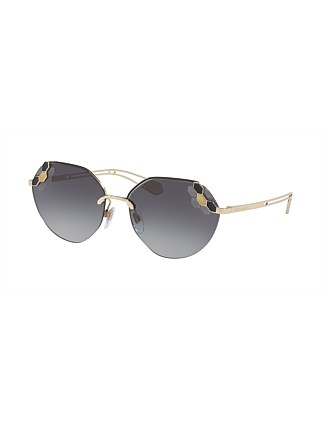 METAL WOMAN SUNGLASS GREY GRADIENT