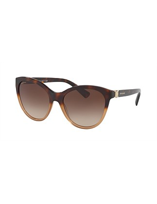 ACETATE WOMAN SUNGLASS BROWN GRADIENT