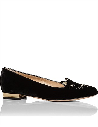 E001139 Velvet/Metallic Calf - VMC KITTY FLATS VELEVT