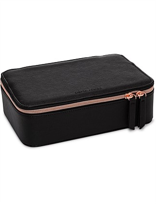 David Jones Jewellery Case Black Saffiano Large
