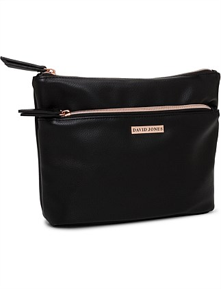 David Jones A-Line Cosmetic Bag Black Pebble
