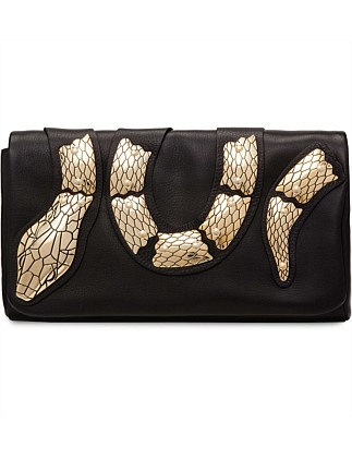 Snake Clutch With Chain