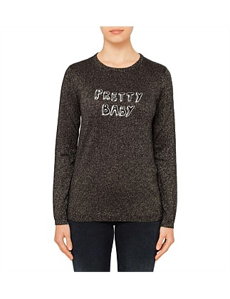 "BELLA FREUD CAPSULE ""PRETTY BABY"" LUREX JUMPER"