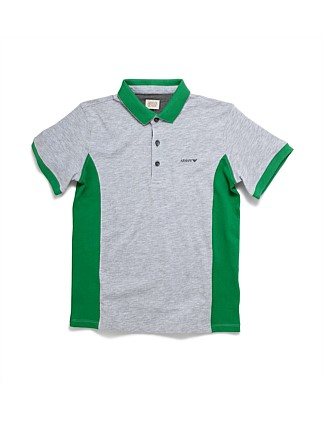 SHORT SLEEVE SIDE PANEL POLO
