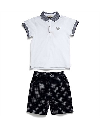 2PC SET POLO/SHORT