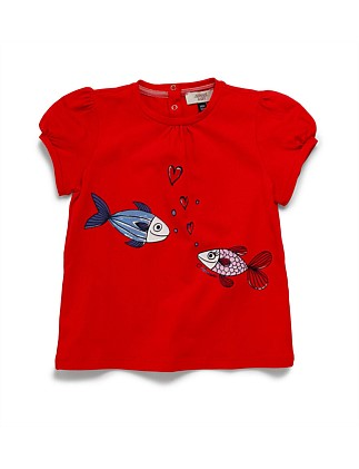 EMBROIDERED FISH TEE