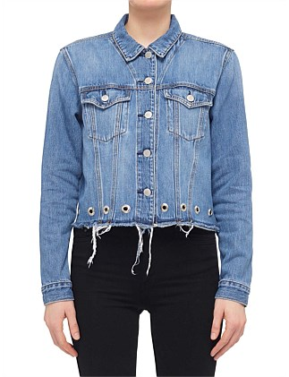 DYLAN JACKET WITH EYELET DETAIL