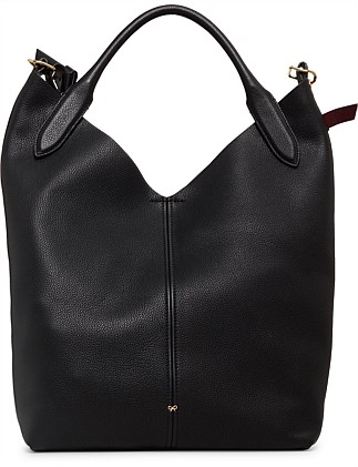 The Bucket Circle In Mini Grain Shoulder Bag