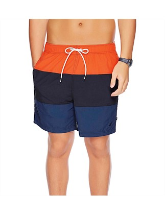 "18"" Full Elastic Colour Block Swim Short"
