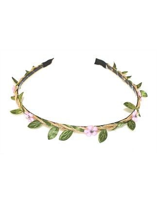 DIAMANTE FLOWER GARLAND ALICE BAND