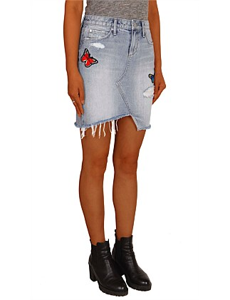 Denim Skirt with patches