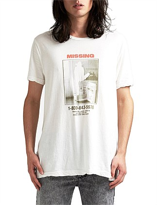 Missing Worn In White SS Tee
