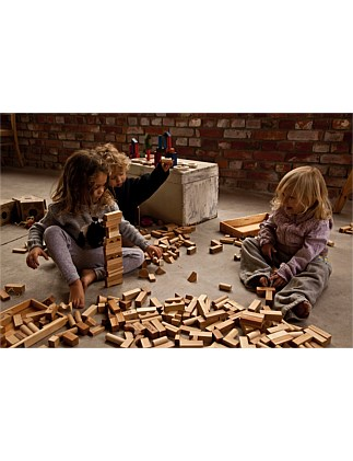 Wooden Story Natural Blocks, 30 pcs