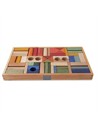 Wooden Story Rainbow Blocks, 54 pcs