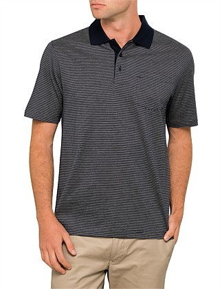Mercerised Stripe Polo