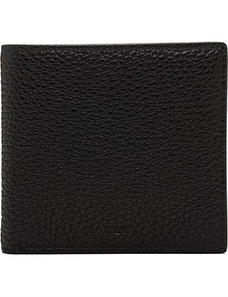CITY PEBBLED LEATHER 4CC BILLFOLD Wallet W/ COIN POUCH