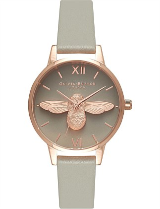 Midi Moulded Bee Animal Motif Watch