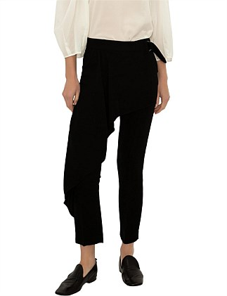 BLACK CREPE WEST END PANT